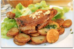 Confit de canard l 39 art de la table - Restaurant le gaulois sur le grill barbizon ...